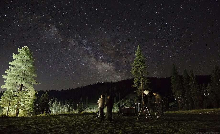 Tahoe Star Tours offers guided stargazing at the Backyard of the Ritz-Carlton on Fridays during summer. Photo: Ritz-Carlton Lake Tahoe