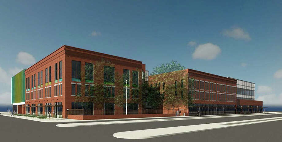 The Center for Healthcare Services plans to begin construction in September on its downtown mental health and primary care clinic at 928 W. Commerce St. Photo: Illustration Courtesy Of Center For Healthcare Services