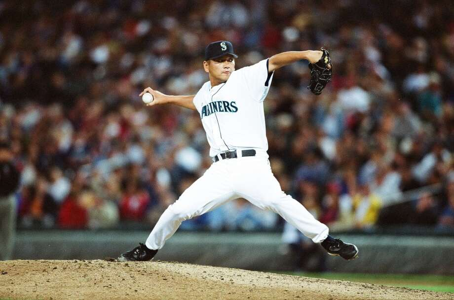No. 15: Kazuhiro Sasaki, Relief pitcherDebut with Mariners: 2000  Season stats: 2-5, 3.16 ERA, 37 saves, 78 strikeouts  Career stats: 7-16, 3.14 ERA, 129 saves, 242 strikeouts (4 seasons)The case for: At age 32, Sasaki came to Seattle and immediately assumed the closer role after Jose Mesa blew 5 of 38 save opportunities with a 4.98 ERA a year earlier. The Japan native secured 37 saves in 40 chances en route to the Rookie of the Year Award and the team's ALCS run. Photo: The Sporting News, Sporting News Via Getty Images