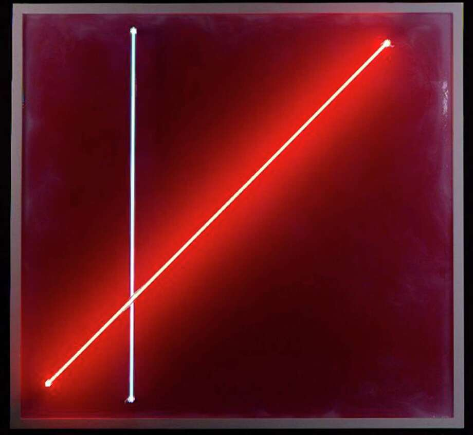 """Lauren Booth's """"Pink Swirl Bluered Neon"""" is among the works on display as part of the inaugural exhibition, """"Love & Sacrifice,"""" at Harts Gallery at 20 Bank Street in New Milford. Photo: Courtesy Of Harts Gallery / The News-Times Contributed"""