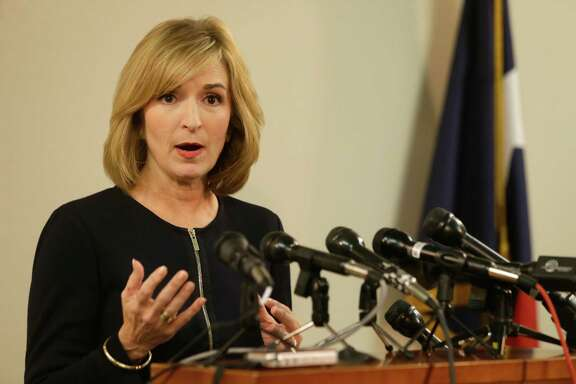 District attorney Devon Anderson speaks at a media conference held at the Harris County District Attorney's Office Wednesday, Aug. 5, 2015, in Houston.   She said her office will start a criminal investigation after an undercover video was released alleging wrong doings by Planned Parenthood in Houston.