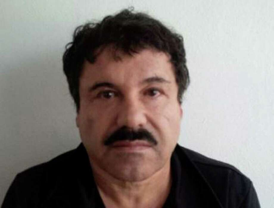 """(FILES) A file handout picture released by the Attorney General of Mexico (PGR) shows the mugshot of Mexican drug trafficker Joaquin Guzman Loera, aka """"el Chapo Guzman"""", published on the PGR website on February 22, 2014. Mexican drug lord Joaquin """"El Chapo"""" Guzman has escaped from a maximum-security prison, the government said on July 12, 2015, his second jail break in 14 years. The kingpin was last seen in the shower area of the Altiplano prison in central Mexico late on July 11 before disappearing, and """"the escape of Guzman was confirmed,"""" the National Security Commission said in a statement.  AFP PHOTO/PGR   ---   RESTRICTED TO EDITORIAL USE - MANDATORY CREDIT """"AFP PHOTO / PGR"""" - NO MARKETING NO ADVERTISING CAMPAIGNS - DISTRIBUTED AS A SERVICE TO CLIENTS-/AFP/Getty Images Photo: -, Handout / AFP"""