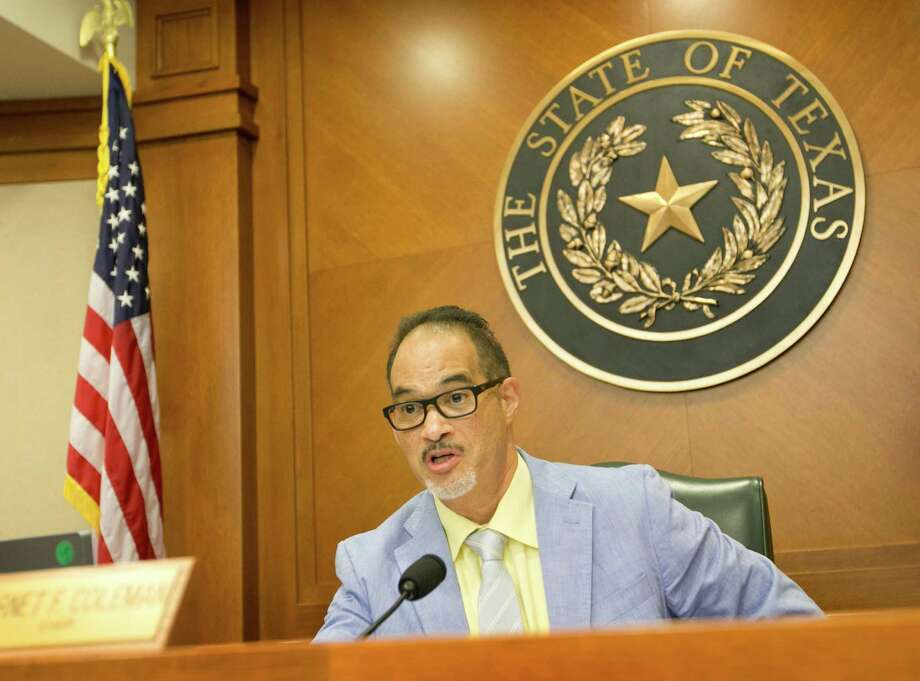 Rep. Garnet Coleman, Chair of the House Committee on County Affairs, questions DPS Director Steve McCraw at a hearing about the Sandra Bland case at the Capitol in Austin, Texas, on Thursday, July 30, 2015. (Jay Janner/Austin American-Statesman/TNS) Photo: Jay Janner, MBR / Austin American-Statesman