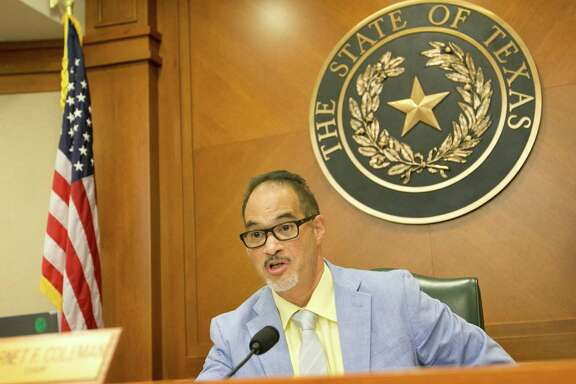 Rep. Garnet Coleman, Chair of the House Committee on County Affairs, questions DPS Director Steve McCraw at a hearing about the Sandra Bland case at the Capitol in Austin, Texas, on Thursday, July 30, 2015. (Jay Janner/Austin American-Statesman/TNS)