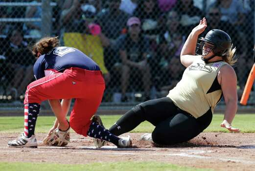 Seguin Majors Mckenzie Neumann 99 Slides For Home Plate Against Greater Helotes