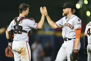Hunter Pence's final thoughts on 2015 Giants - Photo