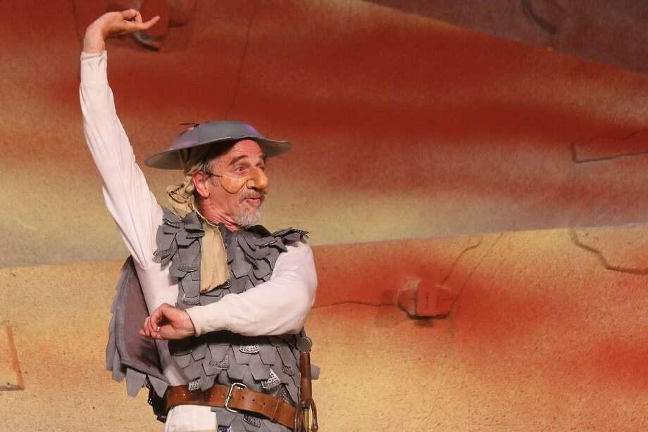 "Don Quixote (Ron Campbell) imagines meeting his beloved Dulcinea in Marin Shakespeare Company's ""Don Quixote"" Photo: Lori A. Cheung"