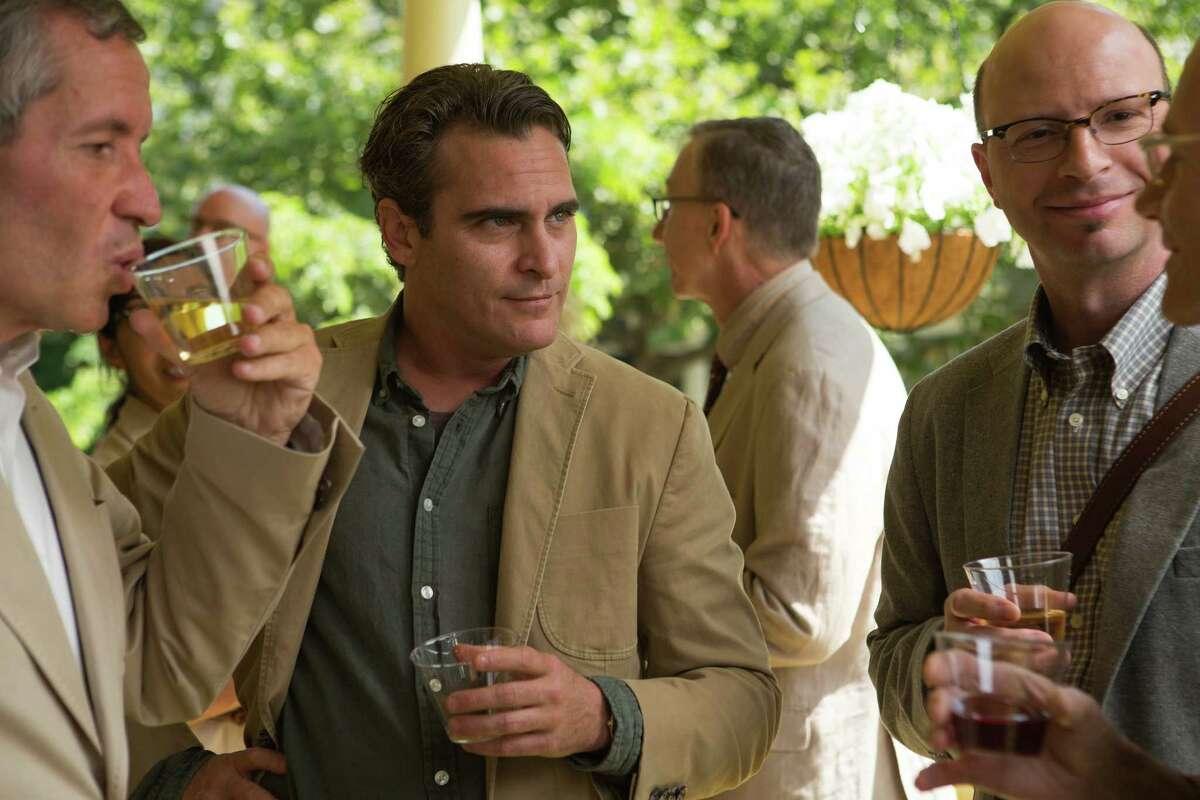 "Joaquin Phoenix, center, in ""Irrational Man."" (Sabrina Lantos/Sony Pictures Classics)"