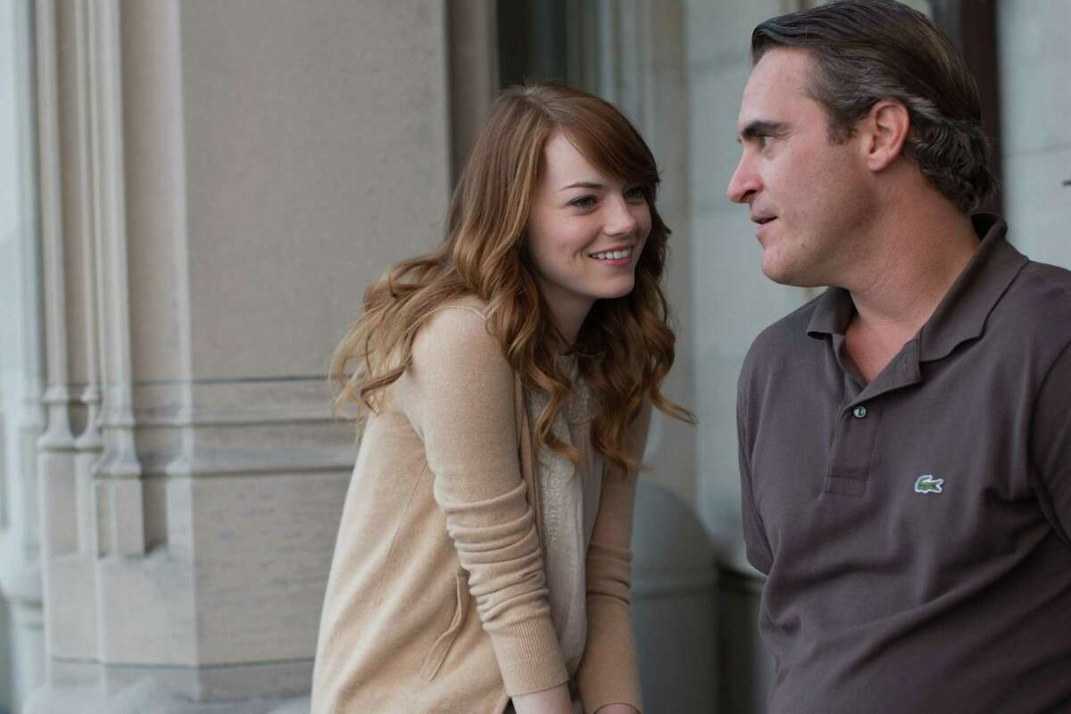 """Joaquin Phoenix and Emma Stone in """"Irrational Man."""" (Sabrina Lantos/Sony Pictures Classics)"""