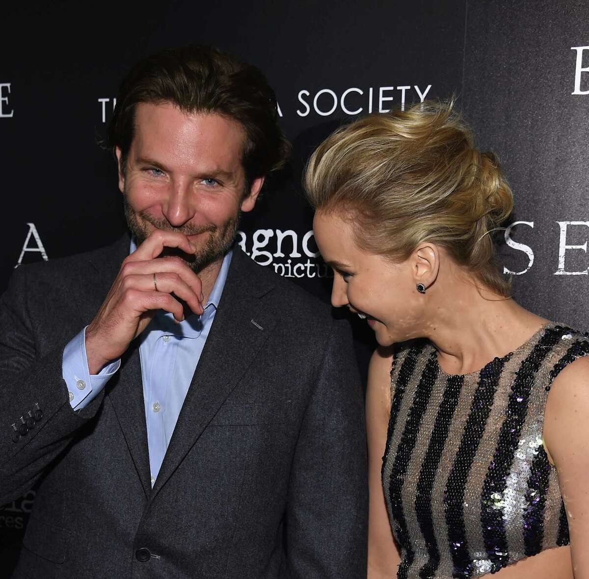 Bradley Cooper and Jennifer Lawrence No wonder they pair so well together on the screen. Their chemistry is amazing.