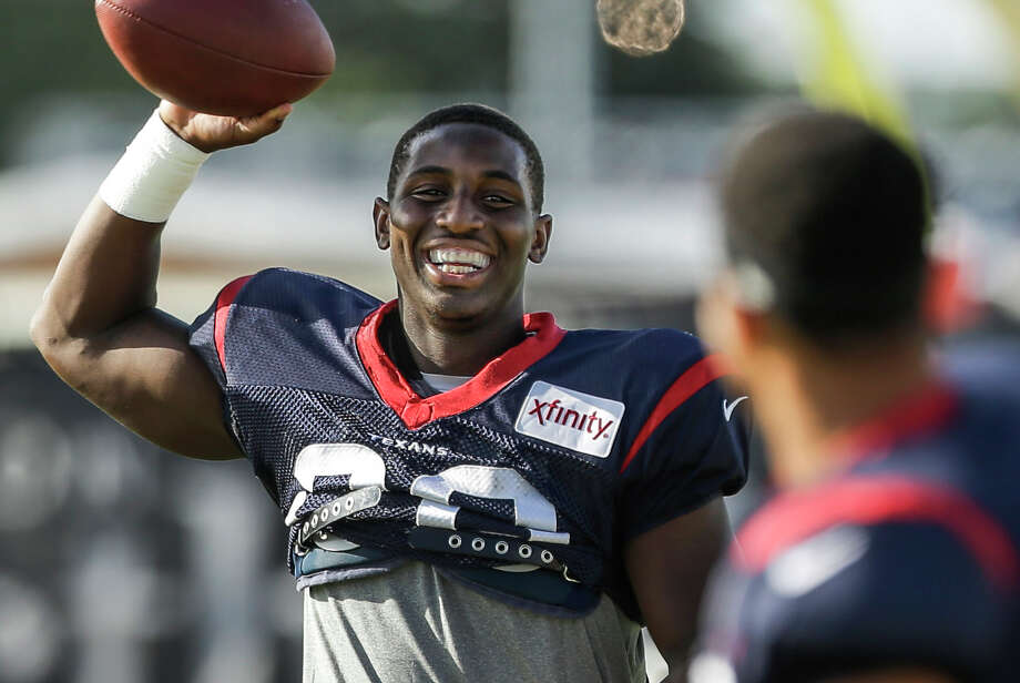 Second-year running back Alfred Blue figures to play a big role in the Texans' offense while Arian Foster recovers from a severe groin injury that will require surgery. Photo: Brett Coomer / Houston Chronicle / © 2015 Houston Chronicle