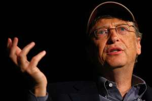 Microsoft co-founder and philanthropist Bill Gates speaks about climate change during a Climate Solutions discussion on Tuesday, May 10, 2011 at the Westin Hotel in Seattle. Climate Solutions held a chat with Gates about climate change and clean energy, and how they relate to addressing hunger, disease and poverty. (Joshua Trujillo, Seattlepi.com)