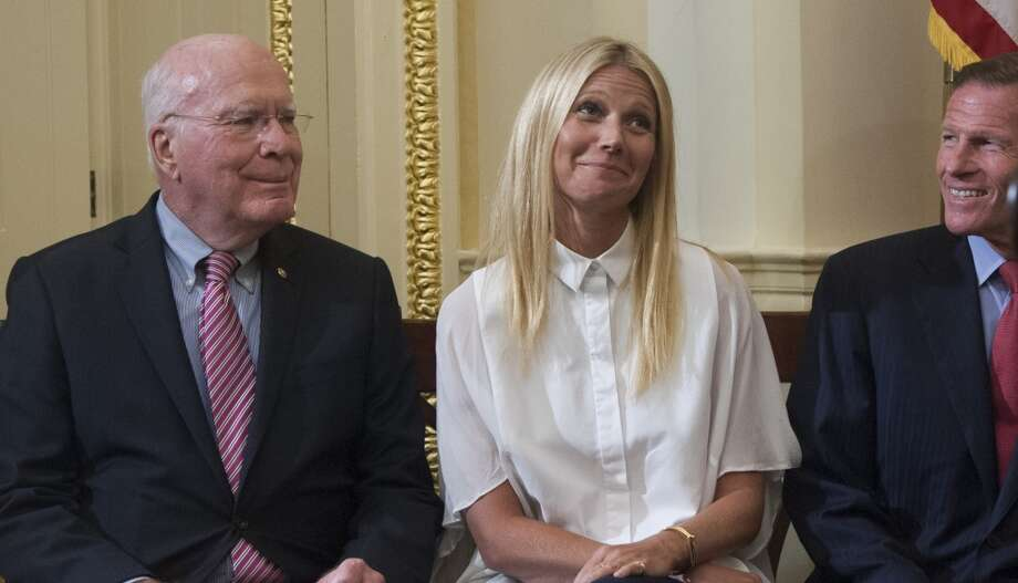 Senator Patrick Leahy (D-VT), here pictured with actress Gwyneth Paltrow, will have his choice of chairing the Senate Appropriations Committee or the Senate Judiciary Committee if Democrats capture control of the U.S. Senate next month. Photo: Kris Connor, Getty
