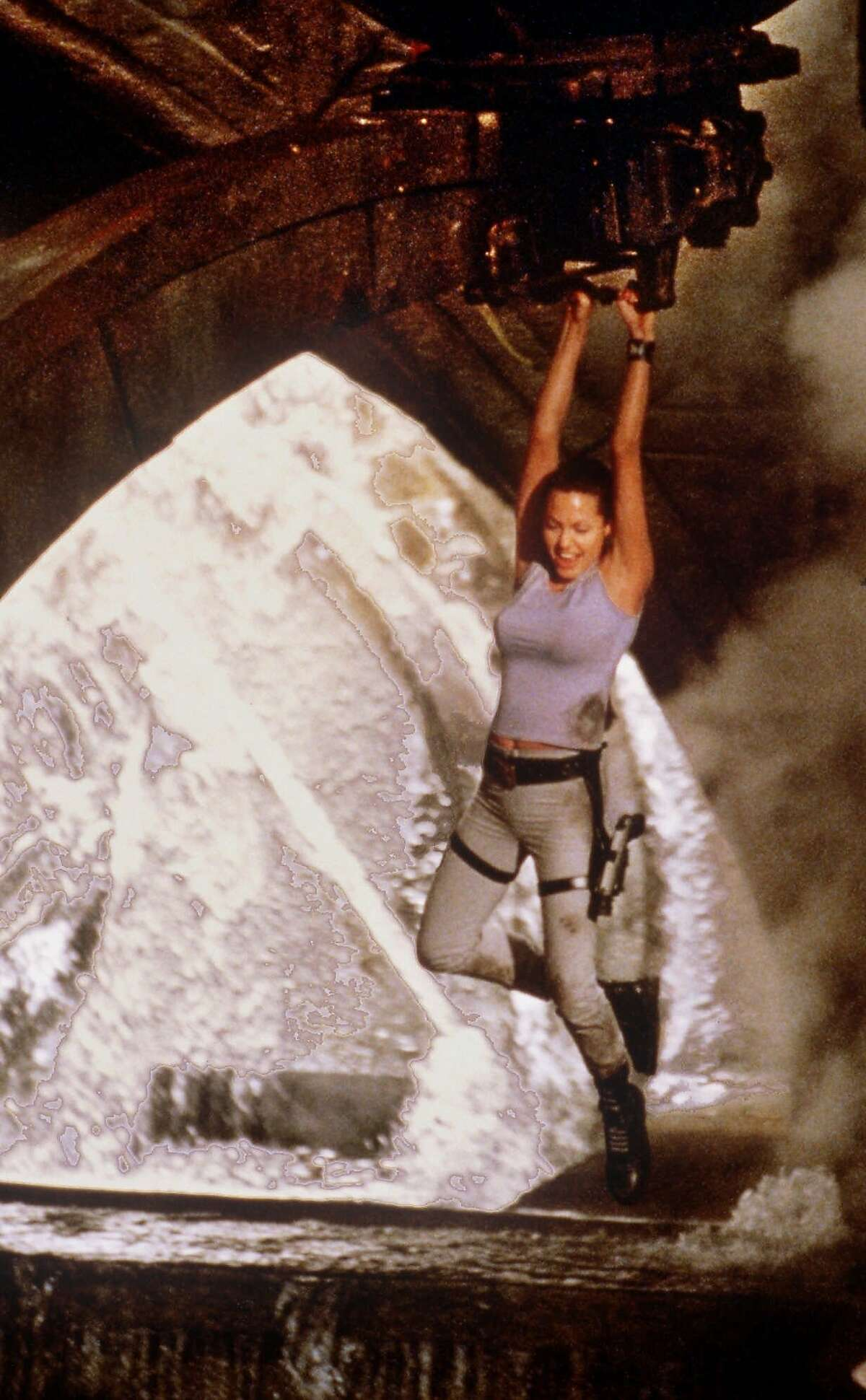 ADVANCE FOR WEEKEND EDITIONS, JUNE 14-17-Actress Angelina Jolie is video-game heroine Lara Croft in this scene from Paramount Pictures'