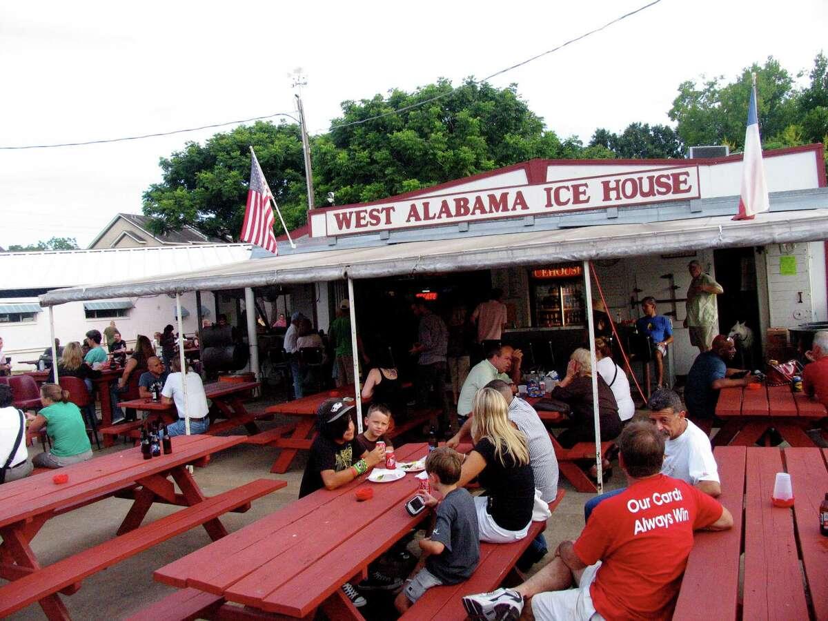 Houston bars that are at least 20 years old Bar: West Alabama Ice HouseAddress: 1919 West AlabamaOpened: 1928