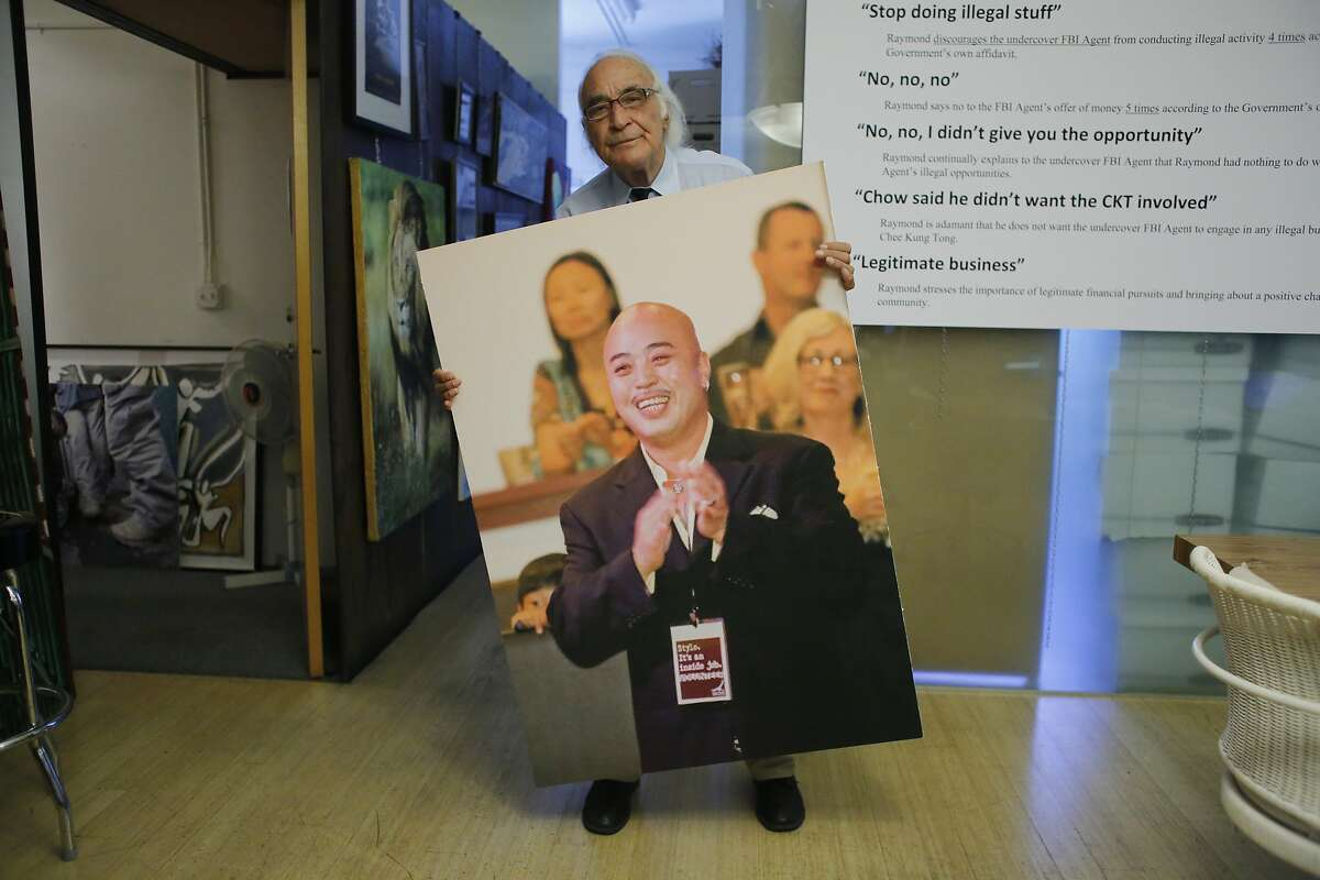 With his dog Cali on his shoulder, artist Jean Franco Pilas honors Frida Kahlo in his San Francisco back yard.Famed criminal defense attorney Tony Serra, 79, who is representing Raymond