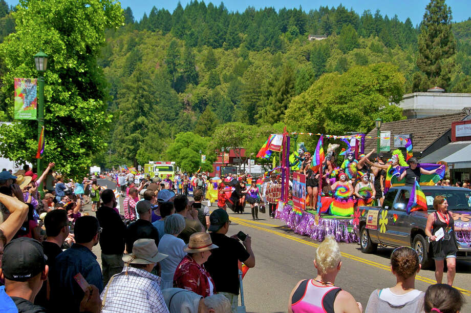 The Sonoma County Pride parade takes over Main Street in June; other annual events include the venerable Russian River Jazz and Blues Festival and Lazy Bear Weekend — six days of parties and entertainment benefitting the LGBT community. Photo: Www.sonomacounty.com