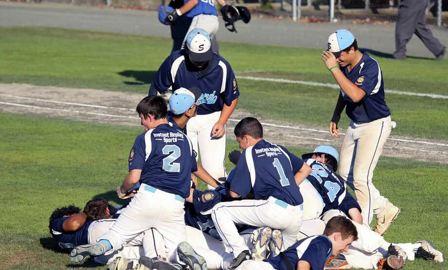 The Stamford U15 Prep team celebrates beating Middletown 7-0 on Sunday, Aug. 2, 2015 in the state championship at Palmer Field in Middletown. Photo: Contributed Photo / Contributed Photo / Stamford Advocate Contributed