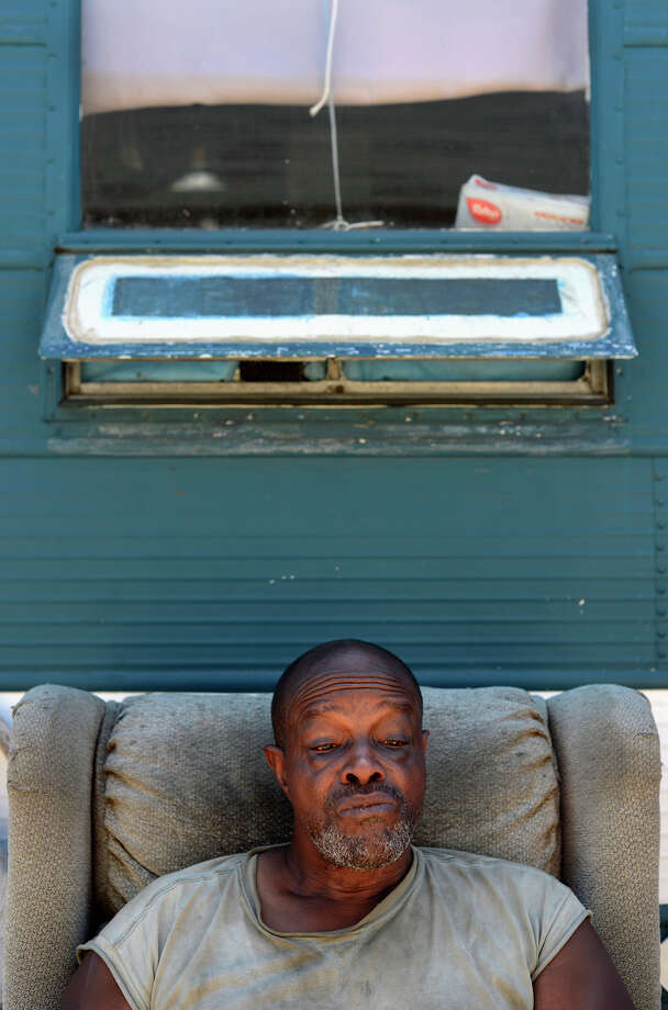 Michael Porter, a 16-year resident, sits in a chair outside of his trailer, which may not be in Benicia much longer. Photo: Brandon Chew / Brandon Chew / The Chronicle / ONLINE_YES