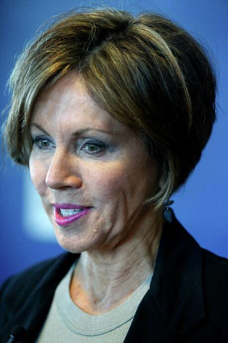San Antonio city manager Sheryl Sculley speaks to the media Thursday morning June 25, 2015 during a break in an all-day budget planning meeting at the convention center. Photo: William Luther, Staff / San Antonio Express-News / © 2015 San Antonio Express-News