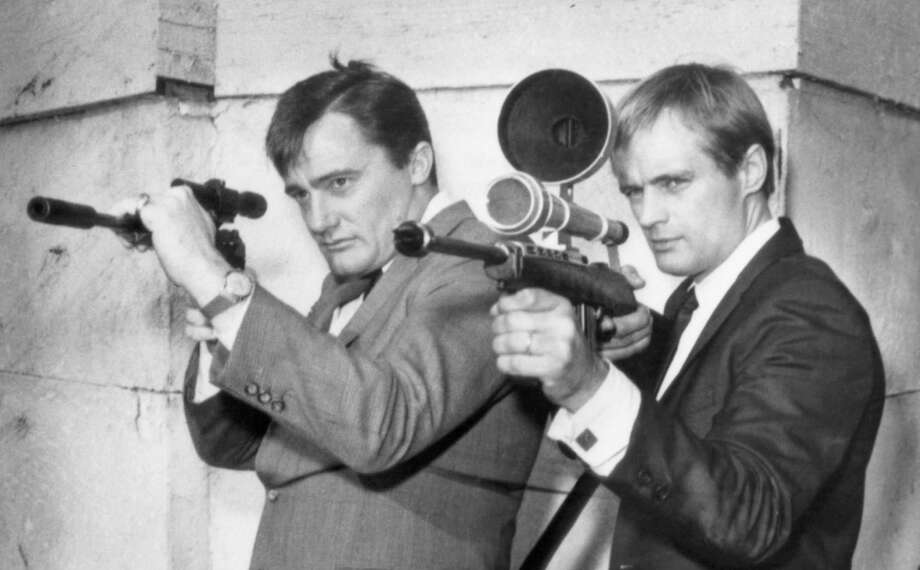 "Robert Vaughn (left) as Napoleon Solo and David McCallum as Illya Kuryakin brought brainy heroes to the TV screen in ""The Man From U.N.C.L.E."" Photo: NBC Via Getty Images / 2012 NBCUniversal, Inc."