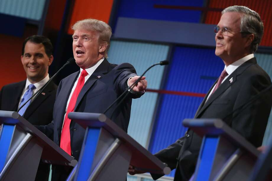 Walker, Trump and Jeb Bush Photo: Scott Olson, Getty Images