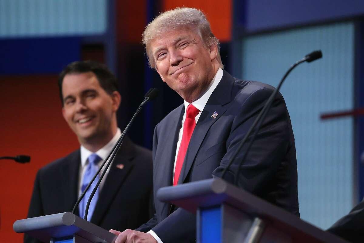 Wisconsin Gov. Scott Walker and Donald Trump