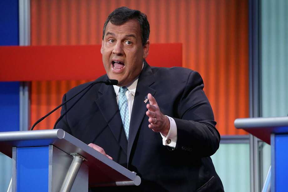 CLEVELAND, OH - AUGUST 06:  Republican presidential candidate New Jersey Gov. Chris Christie participates in the first prime-time presidential debate hosted by FOX News and Facebook at the Quicken Loans Arena August 6, 2015 in Cleveland, Ohio. The top-ten GOP candidates were selected to participate in the debate based on their rank in an average of the five most recent national political polls.  (Photo by Chip Somodevilla/Getty Images) Photo: Scott Olson, Getty Images