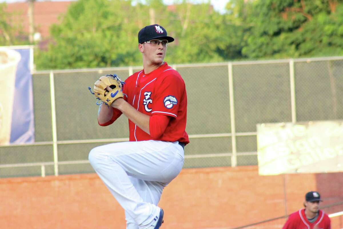 Jeff Hoffman was pitching for the New Hampshire Fisher Cats before being included in the deal that sent Troy Tulowitzki to Toronto. Now Hoffman pitches for New Britain. (Rachel Murphy / New Hampshire Fisher Cats)