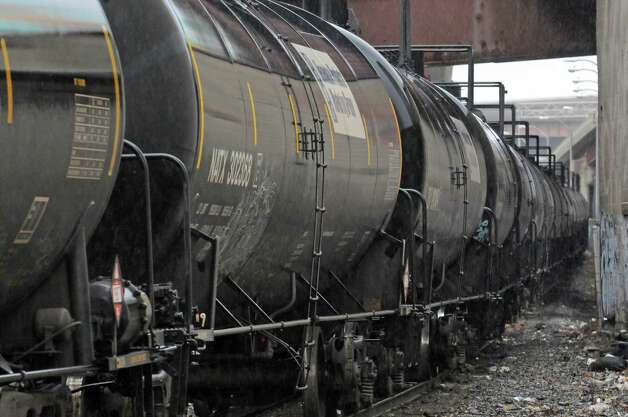 Oil train cars in the Port of Albany on Wednesday April 22, 2015 in Albany, N.Y. (Michael P. Farrell/Times Union) Photo: Michael P. Farrell