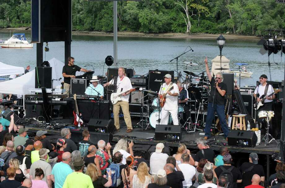 Local legends Blotto opens for Classic rock icons Blue oyster Cult during the seasons final Alive at Five at Jennings Landing in the Corning Preserve on Thursday Aug. 6, 2015 in Albany, N.Y. (Michael P. Farrell/Times Union) Photo: Michael P. Farrell / 10032916A