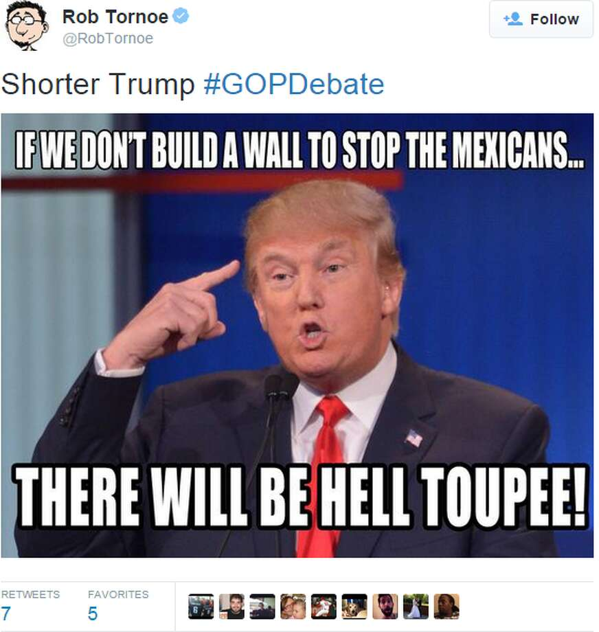 Thursday night's GOP debate gave social media a lot to talk about. Source: Twitter