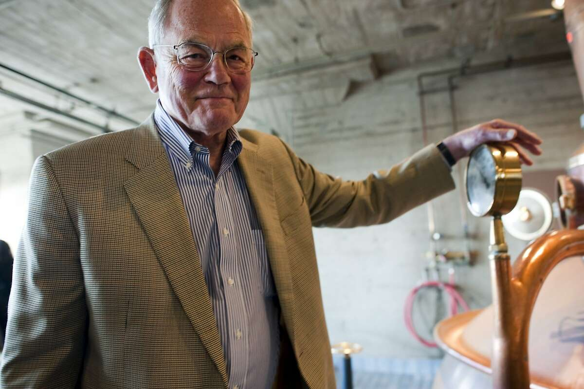 Former owner Fritz Maytag, poses for a portrait at the Anchor Brewery in San Francisco, CA Thursday, August 6, 2015.