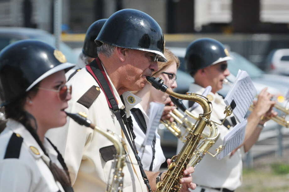 Members of the Yankee Doodle Band perform at the Rensselaer Memorial Day Parade, May 24, 2015. (Times Union archive)