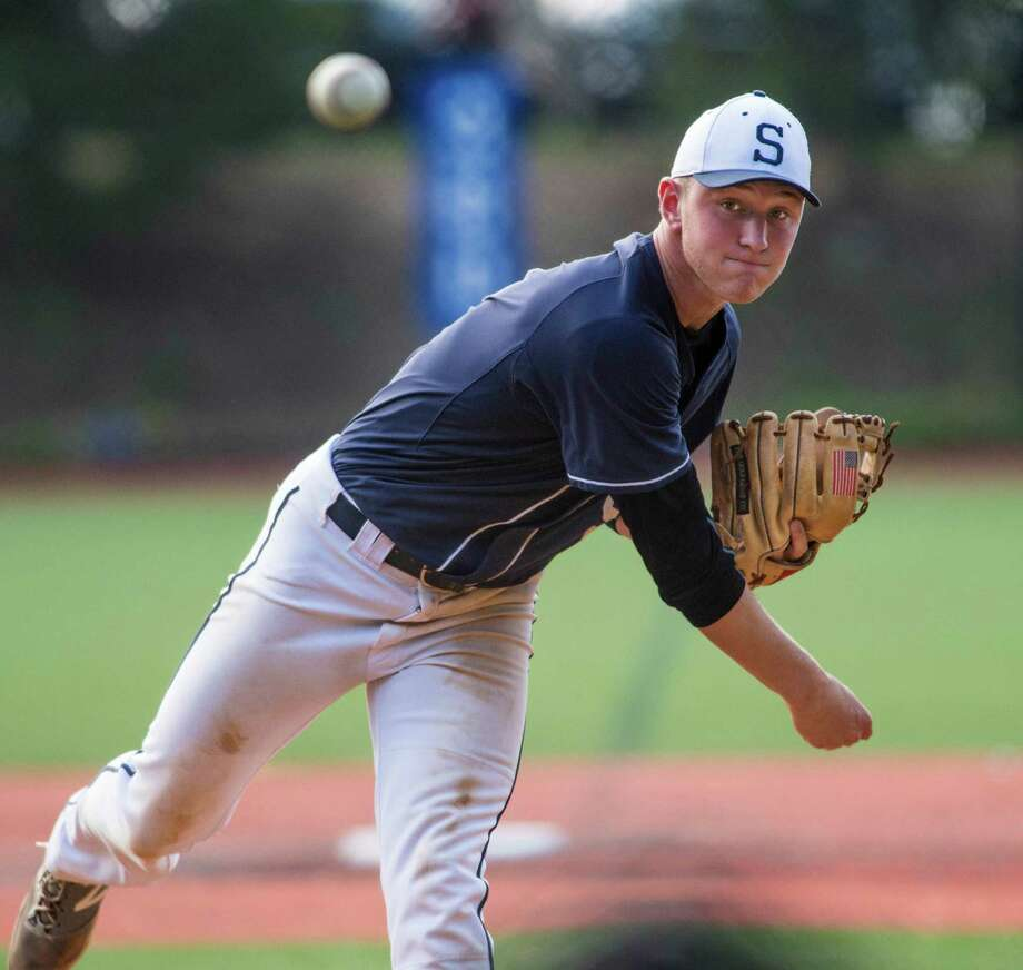Ben Casparius went 7-0 with 57 strikeouts for Staples this season, and also went .360 to help the Wreckers reach the FCIAC and Class LL final. Photo: Mark Conrad / Hearst Connecticut Media / Connecticut Post Freelance