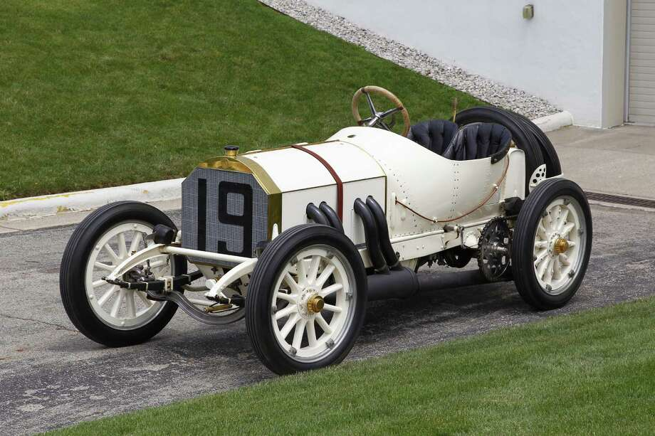 This 1908 Mercedes Brooklands, one of only three produced, finished fourth in the first Indianapolis 500 in 1911. Photo: Lime Rock Park / Contributed Photo / Connecticut Post