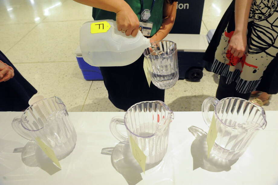The Albany County Best Drinking Water of 2015 taste test at the Empire State Plaza Concourse on Thursday May 7, 2015 in Albany, N.Y. (Michael P. Farrell/Times Union) Photo: Michael P. Farrell / 00031722A