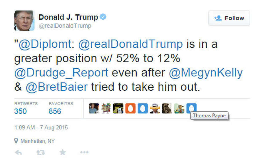 Donald Trump was not happy with Megyn Kelly's questions during Thursday's GOP debate ... and he let Twitter know. Photo: Twitter.com