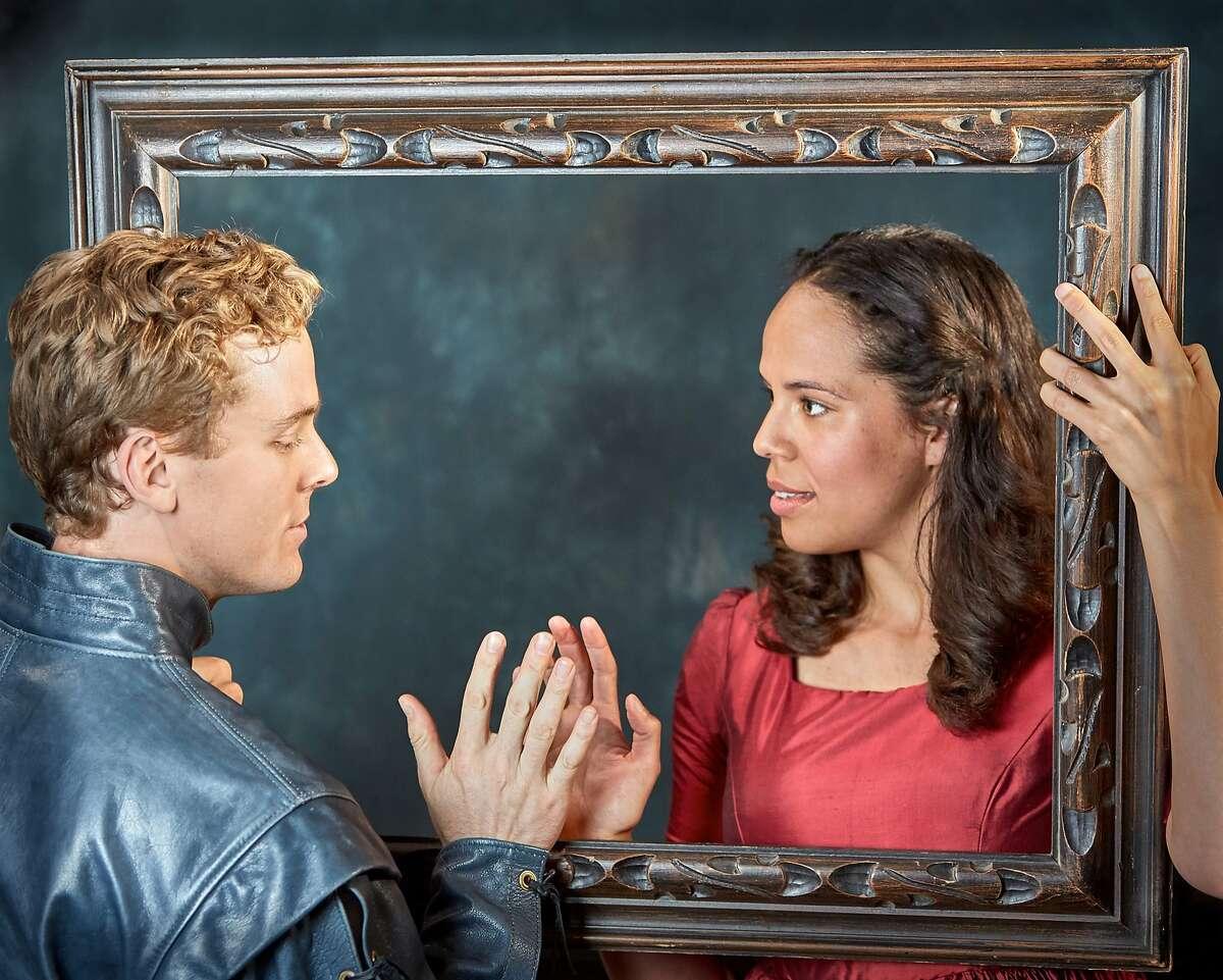 Carl Holvick, left, as Romeo and Lauren Spencer as Juliet in SF Shakespeare Festival's