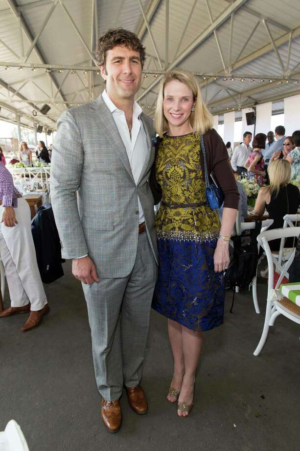 Zachary Bogue and Marissa Mayer at the Giant Steps Charity Classic Six Bar & Gala on August 1, 2015. Photo: Drew Altizer, Drew Altizer Photography/SFWIRE, Drew Altizer Photography / DREW ALTIZER PHOTOGRAPHY