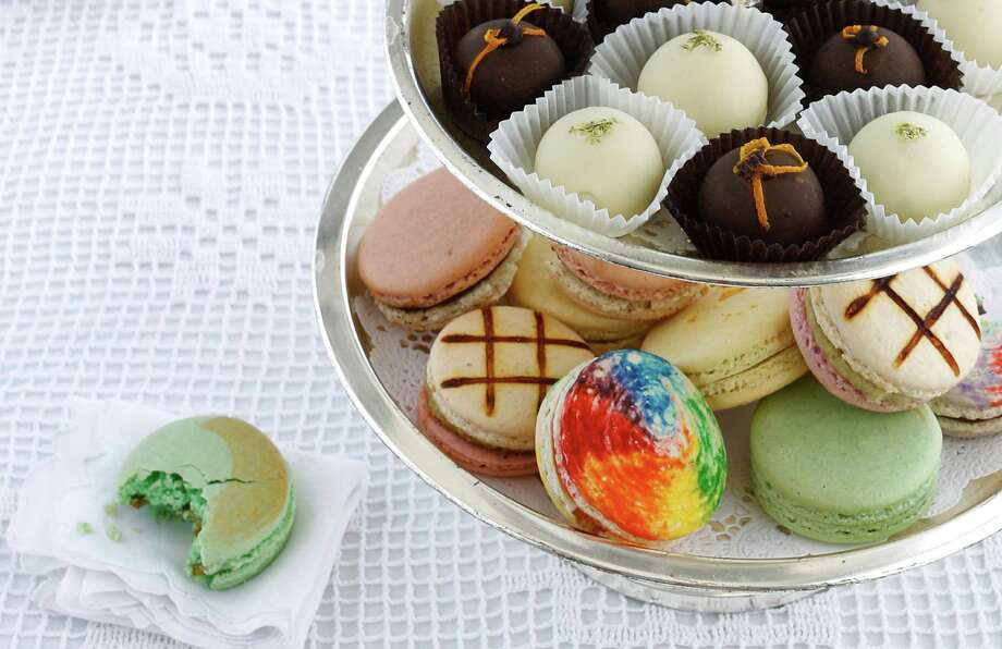 Tea time-worthy edibles infused with cannabis including Cheffettes truffles, and Madame Munchie macarons. Photo: Russell Yip / The Chronicle / ONLINE_YES