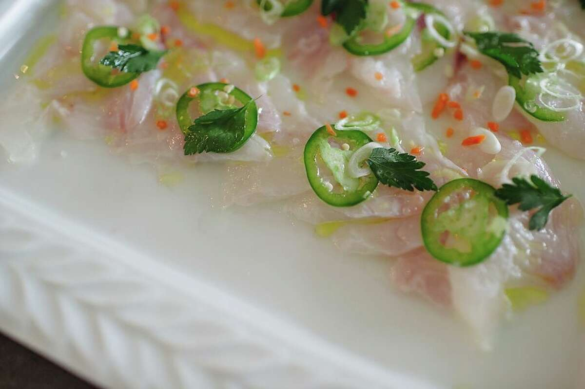 Hugo's: Ceviche made with fresh reds snapper.