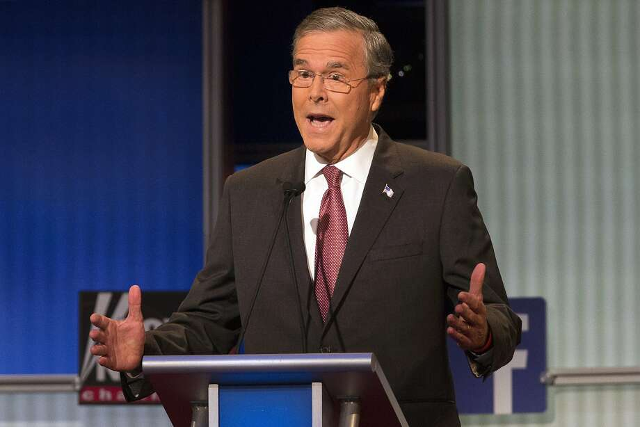 Republican presidential candidate former Florida Gov. Jeb Bush during the first Republican presidential debate at the Quicken Loans Arena Aug. 6, in Cleveland. Photo: John Minchillo, Associated Press