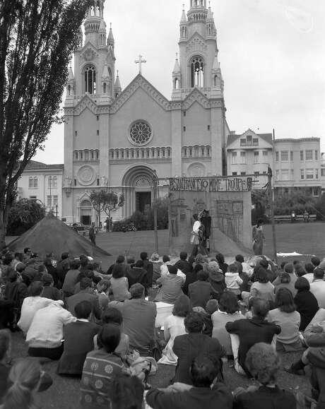 The San Francisco Mime Troupe performs at Washington Square Photo: Stan Creighton, The Chronicle