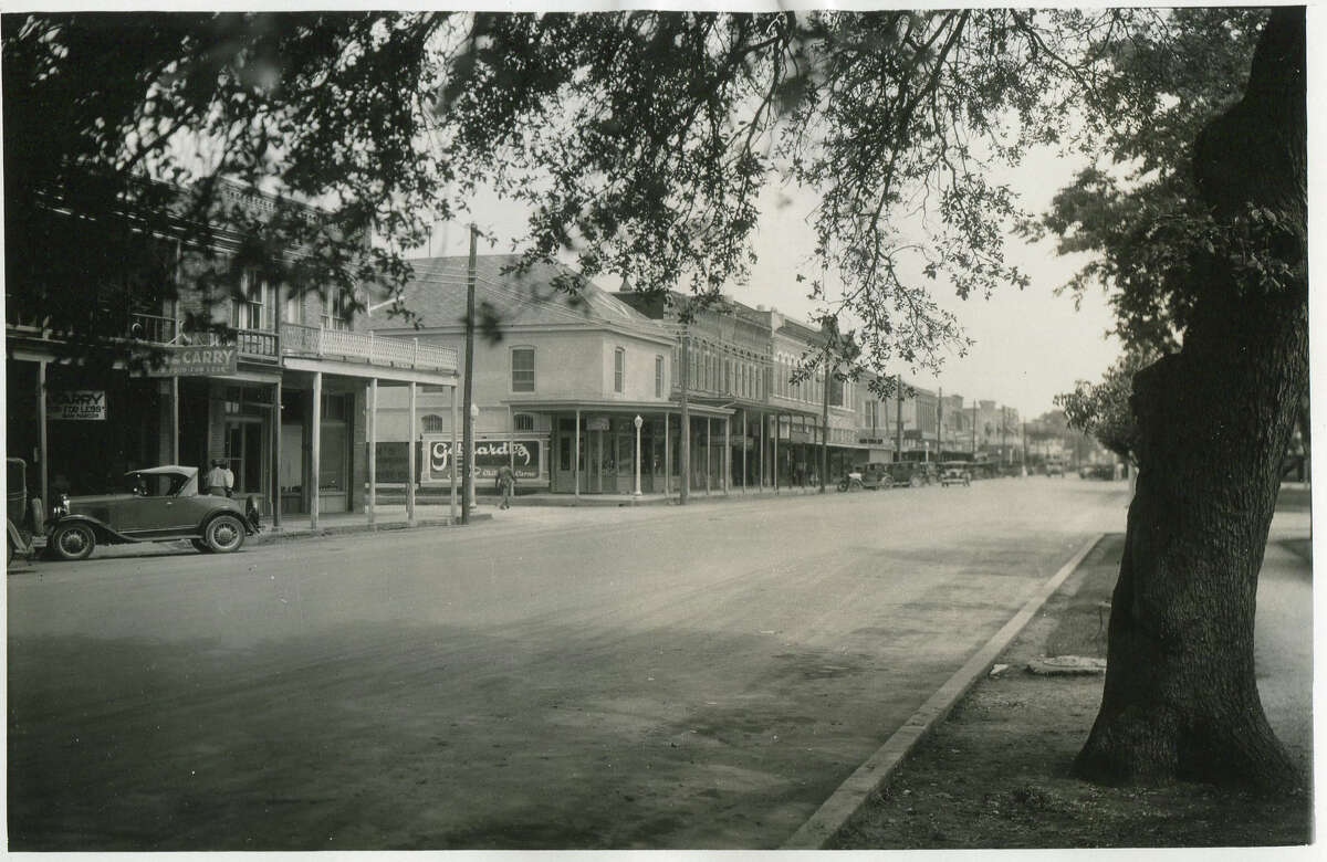 Business section of Seguin, circa 1930s or 1940s.