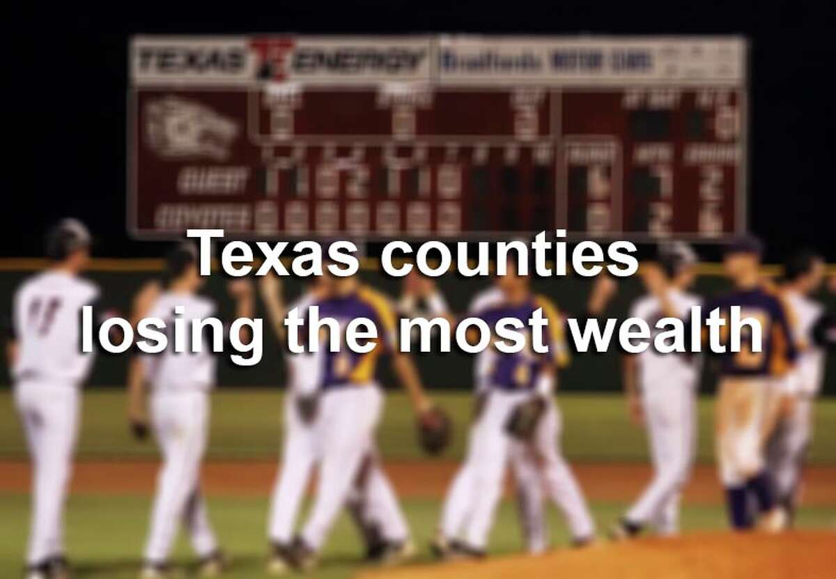 Scroll through the gallery to see which Texas counties lost the most wealth in 2011-12.