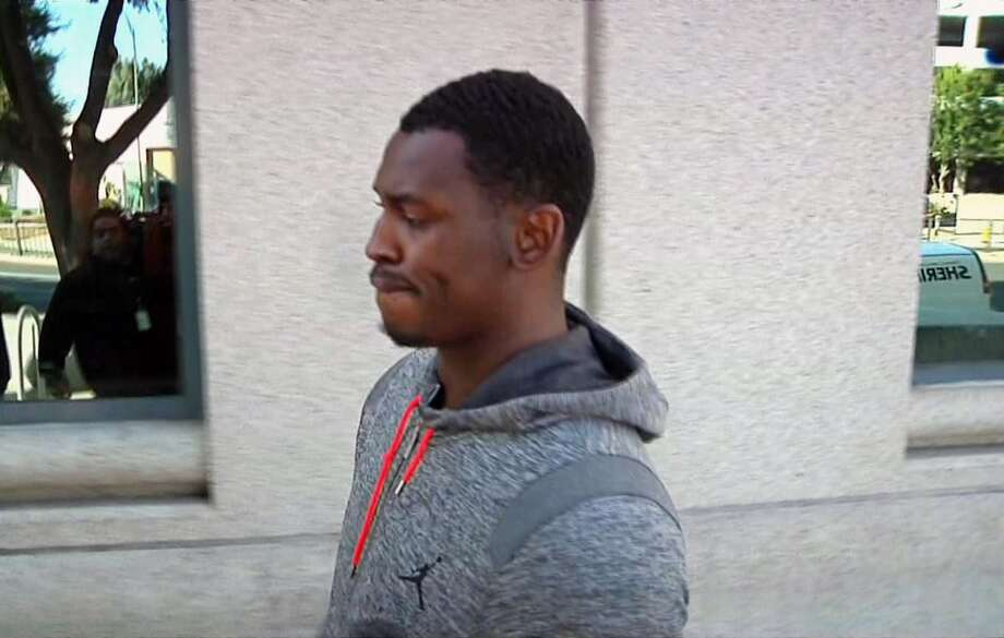 Aug. 7: The 49ers release Aldon Smith after his arrest on vandalism, hit and run and DUI charges. It is his fifth arrest since 2012. Photo: Michael Horn, Associated Press