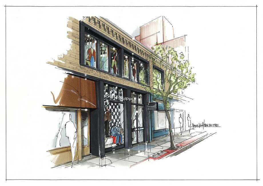 Suitsupply, the Dutch men's brand, is scheduled to open a 4,547-square-foot store at 175 Maiden Lane in August, its first flagship on the West Coast. Photo: Suitsupply