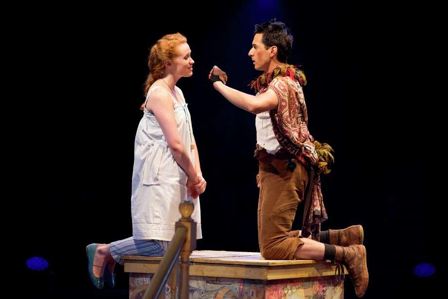 "Sarah Charles and Dan Rosales star in Threesixty Theatre's ""Peter Pan 360."" Photo: Jeremy Daniel"