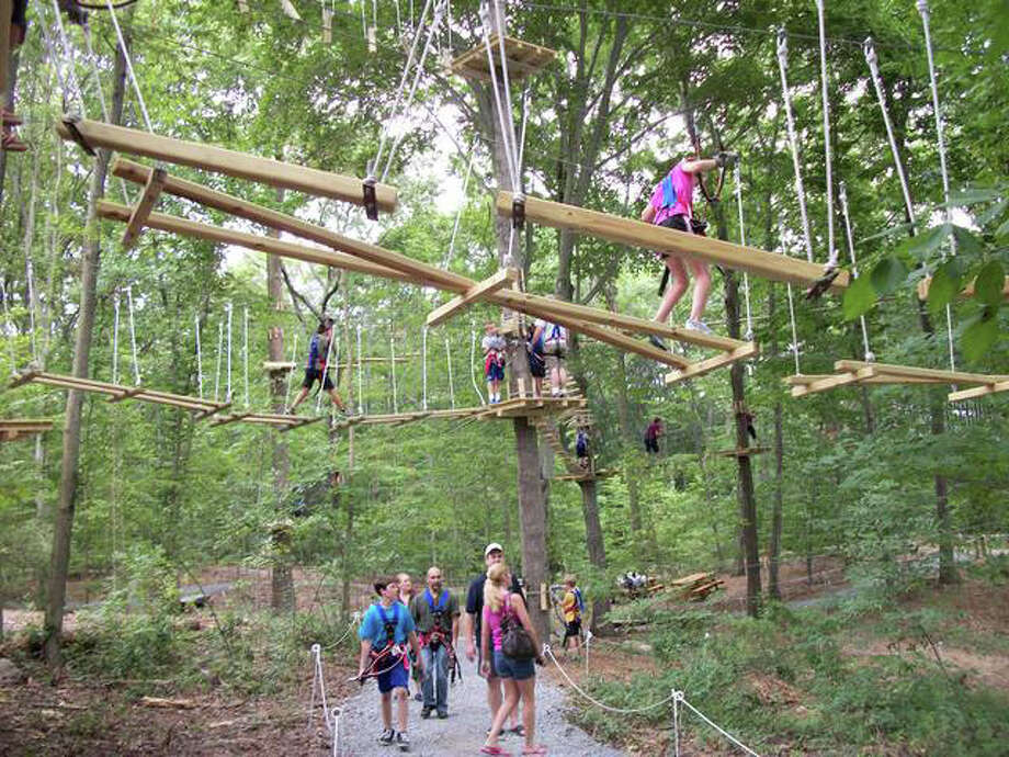 Get those summer plans off the ground with a visit to Adventure Park at the Discovery Museum in Bridgeport. Eleven trails offer challenges and fun for multiple ages and abilities. Photo: Contributed Photo / Stamford Advocate Contributed
